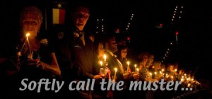 Softly call the muster